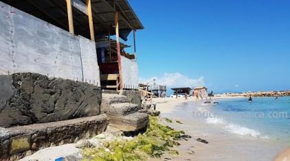 Opfer des Klimawandels: Stranderosion durch den gestiegenen Meeresspiegel.