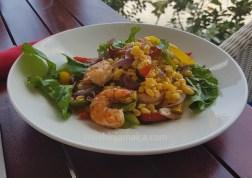 Grilled Shrimps mit Maissalat