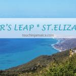 Grandiose Aussicht von einer Klippe im Süden Jamaikas bei lover's Leap.