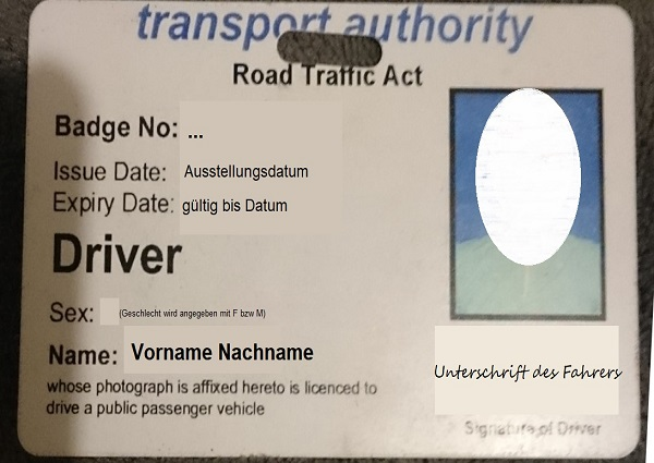 Lizenz für den öffentlichen Personentransport auf Jamaika