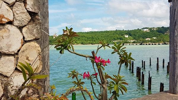 Ausblick vom Lobster Bowl Restaurant in Rio Bueno/Jamaika