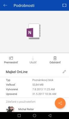 Mobilná aplikácia OneDrive
