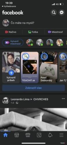 Facebook pre iOS: Tmavý režim prišiel na Slovensko