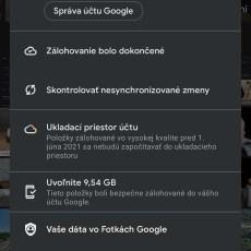 Fotky Google zálohovanie