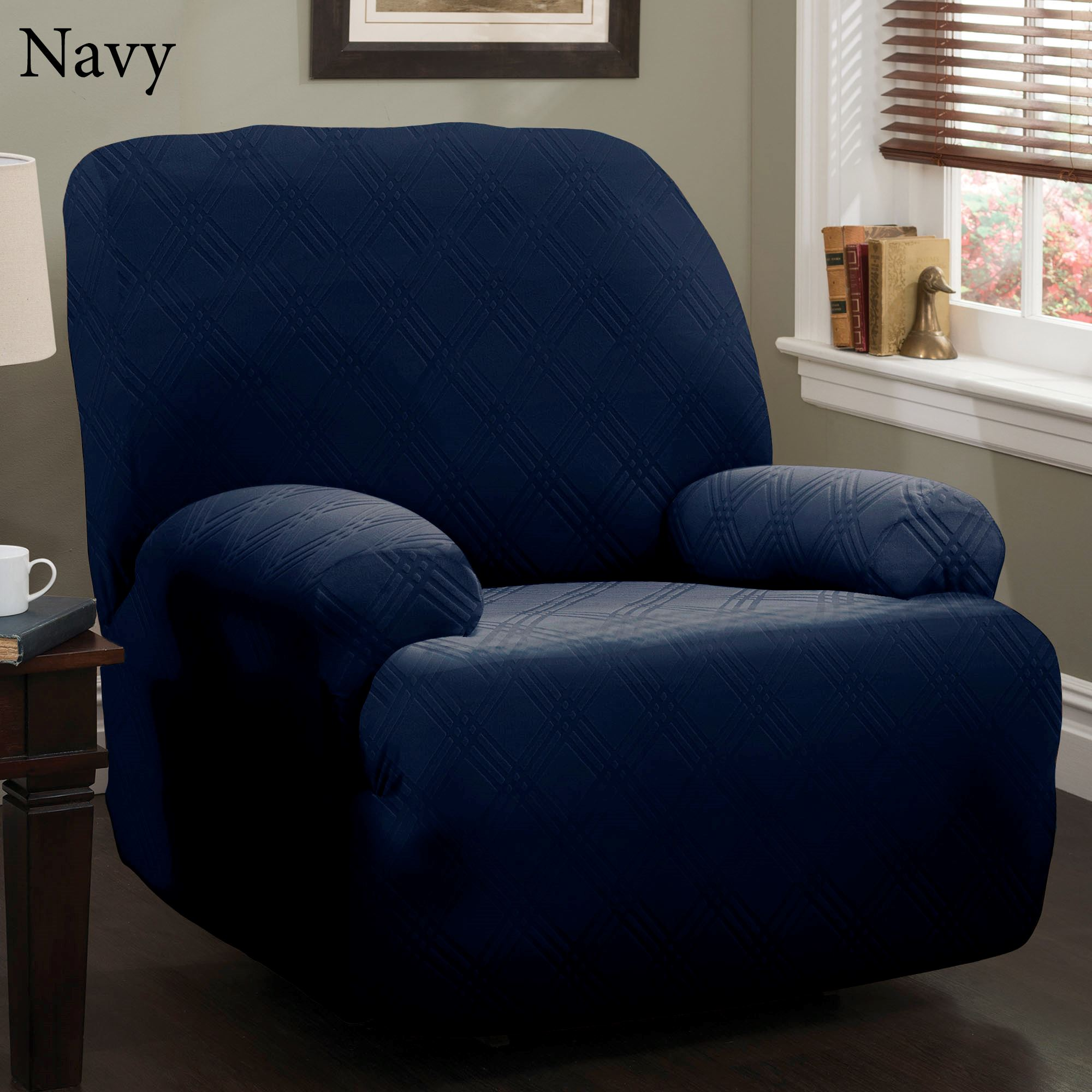 Double Recliner Chair Double Diamond Stretch Jumbo Recliner Slipcovers