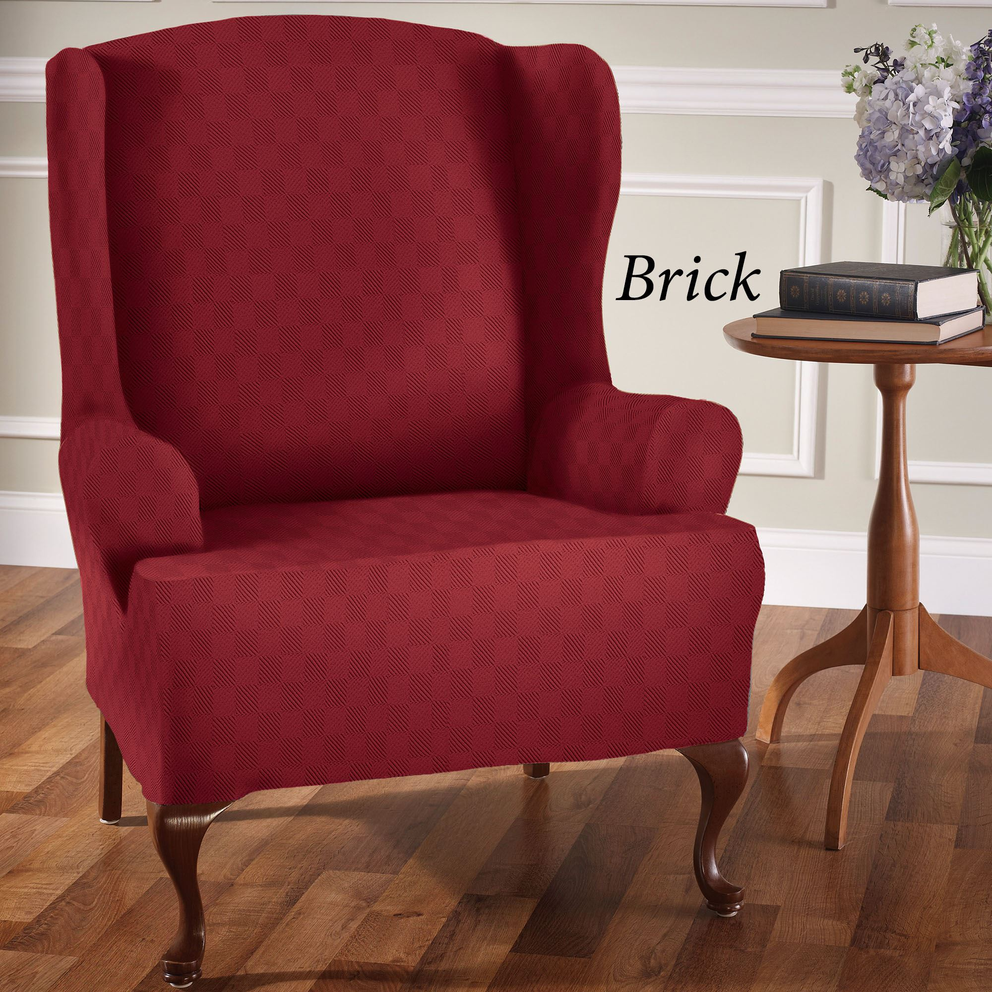Wing Back Chair Covers Newport Stretch Wing Chair Slipcovers
