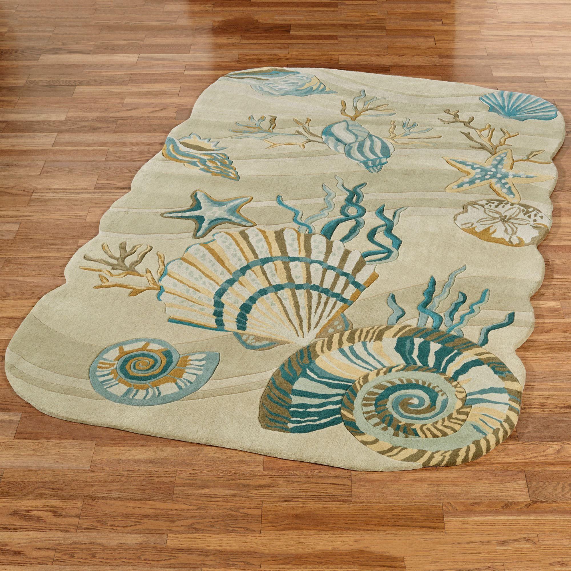 Coastal Dream Seashell Area Rugs