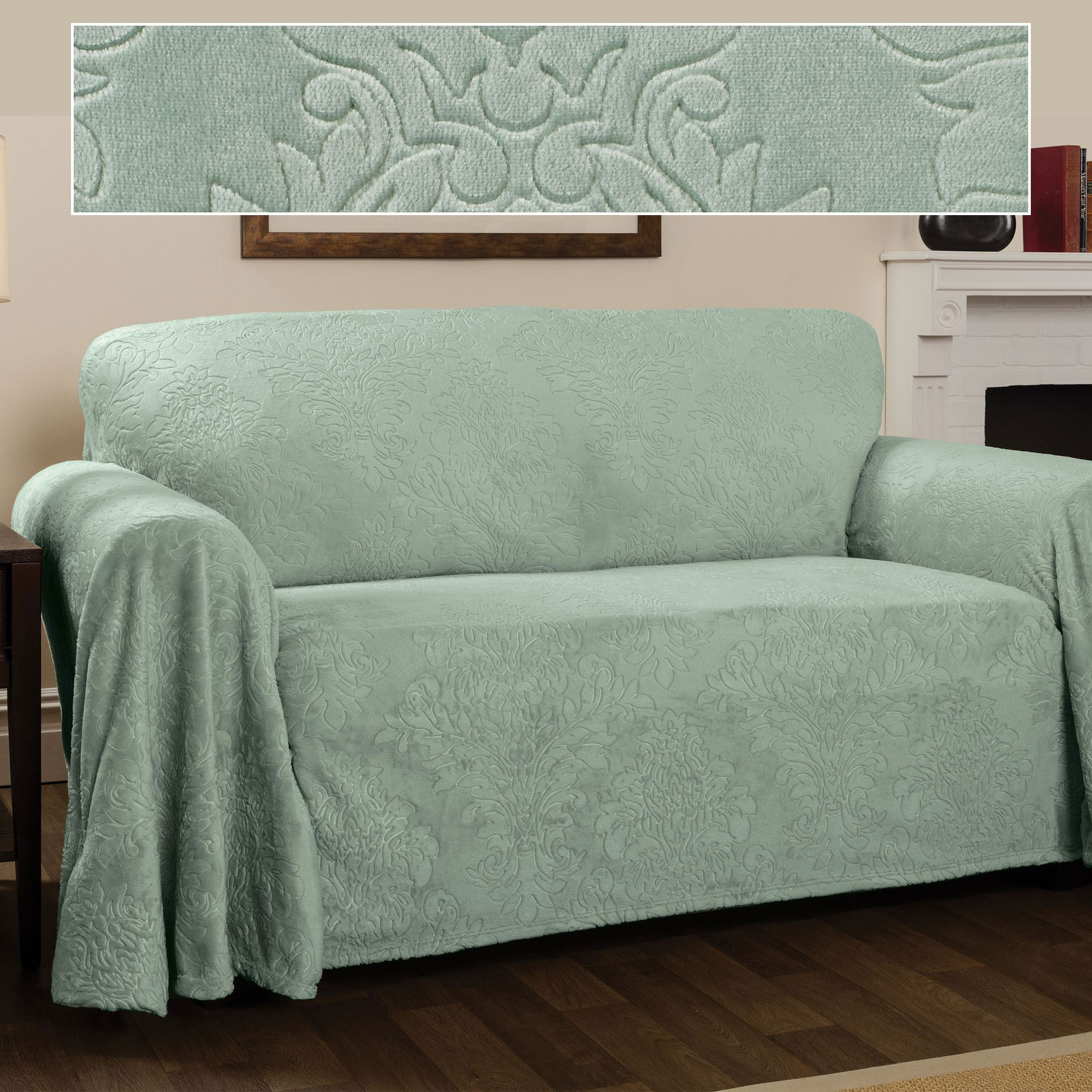 Damask Chair Elegant Damask Celadon Drapable Furniture Covers