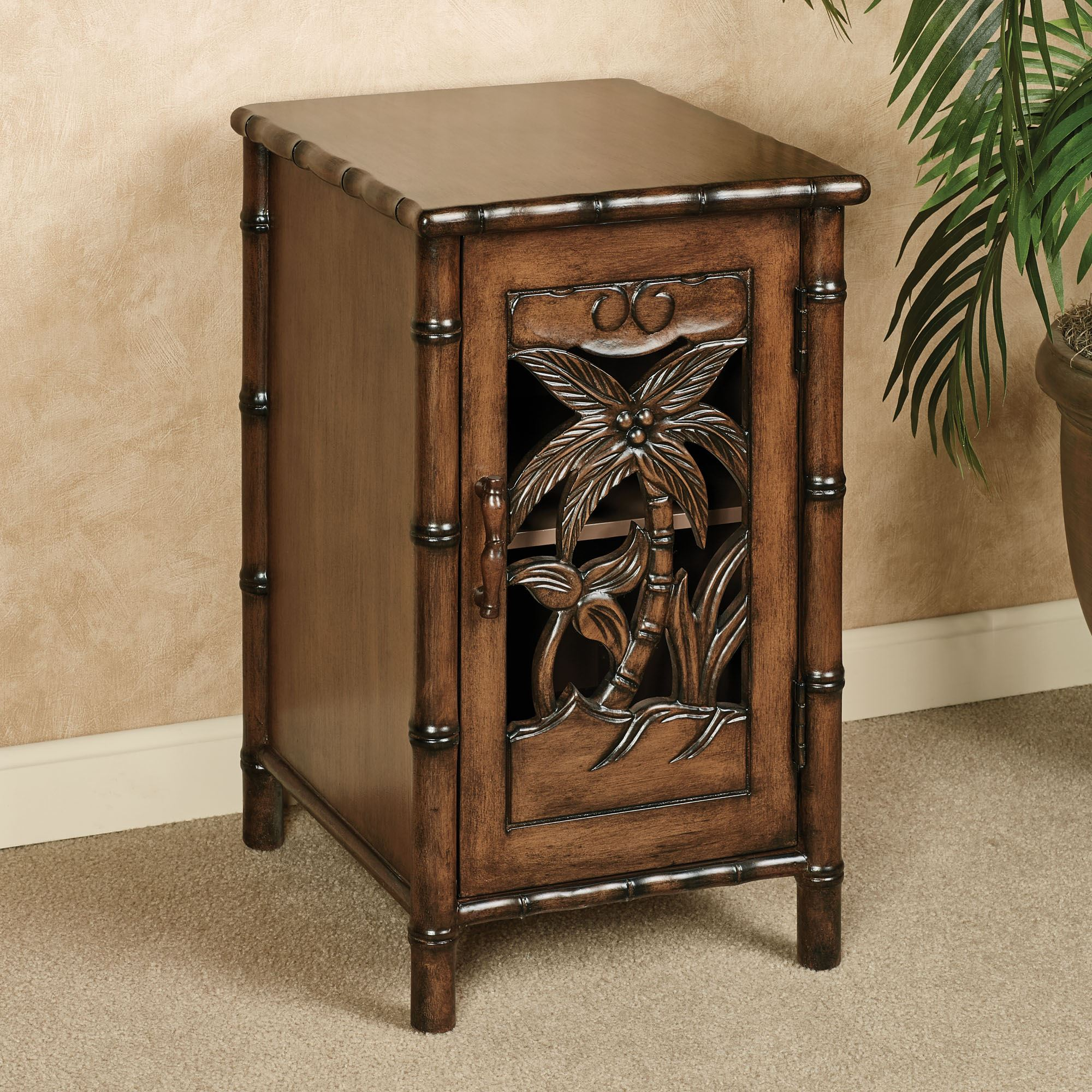 Chair Side Table With Storage Tropical Chairside Table Storage Cabinet