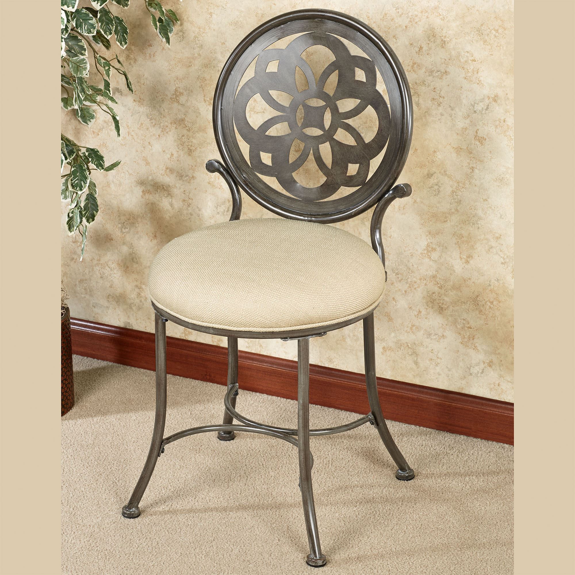 Upholstered Vanity Chair Marsala Upholstered Metal Vanity Chair