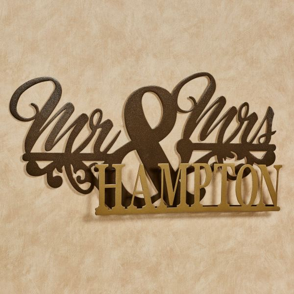 And Marriage Personalized Metal Wall Art Sign Touch Of Class