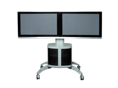 Double LCD Stand Trolley | Touch Screen Solutions