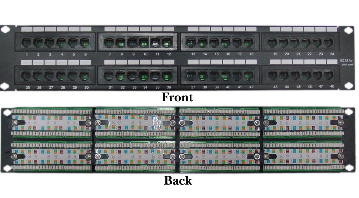 Cat5 Network Wiring Diagram Patch Panel For Lan Connection With Cat5 Cat6 Touchtechblog