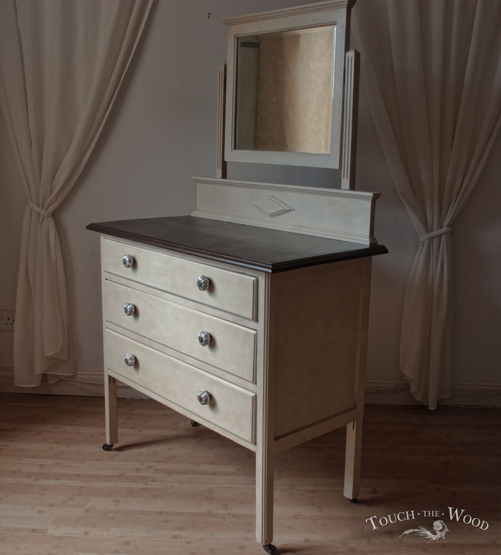 Antique Shabby Chic Dresser with Mirror  Drawer Chest no 09  Touch the Wood