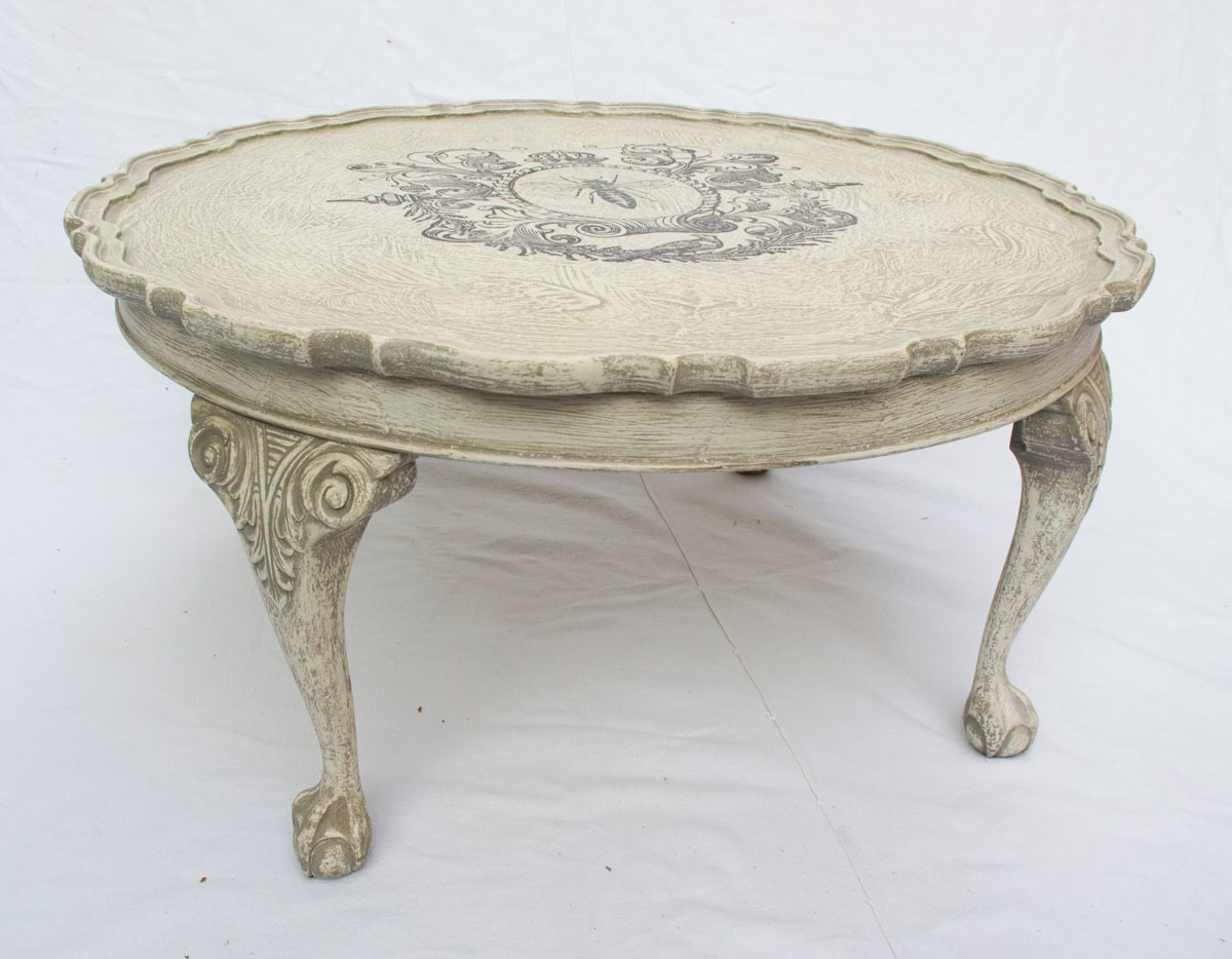 shabby chic round coffee table no 01