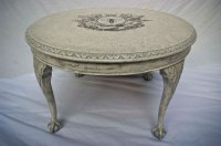 Shabby Chic Round Coffee Table No. 02 - Touch the Wood