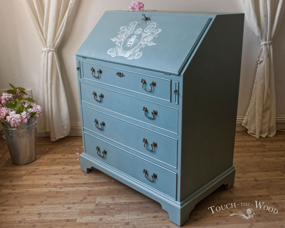 Vintage Shabby Chic Bureau no 10  Custom Makeover