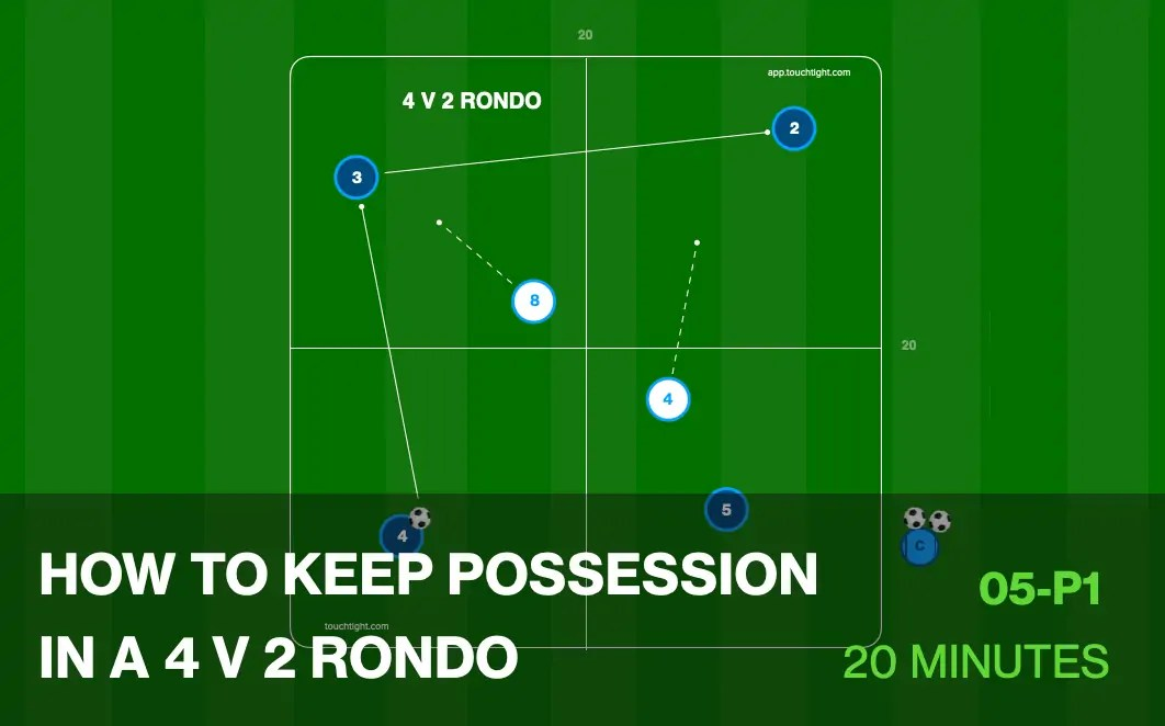 How to keep Possession in A 4 V 2 Rondo (05-P1)