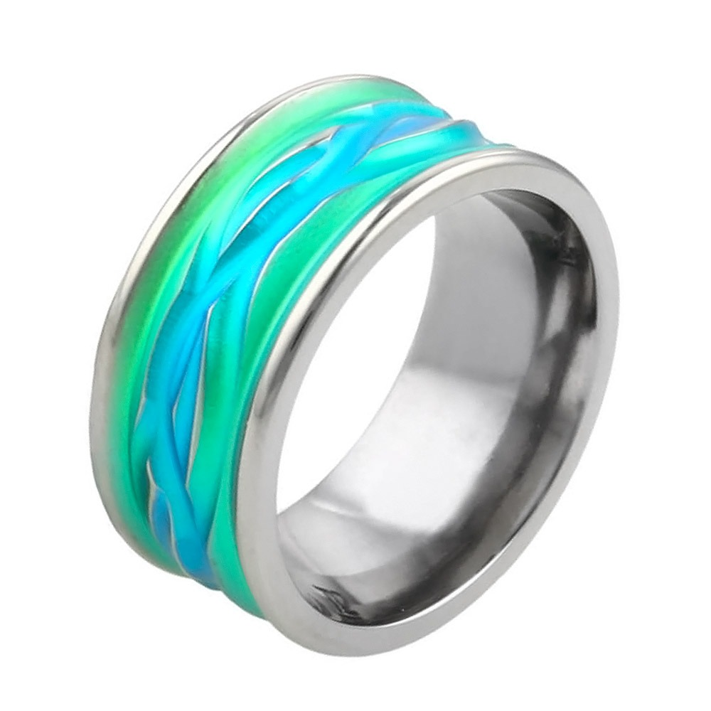 Chunky hypoallergenic titanium wedding ring