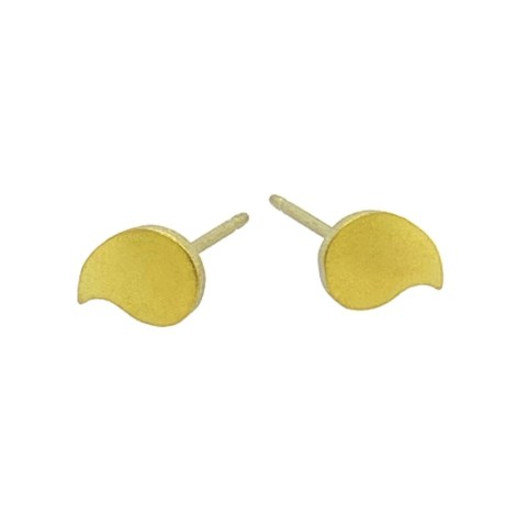 Yellow Titanium droplet studs. Hypoallergenic jewellery from TouchTitanium.com