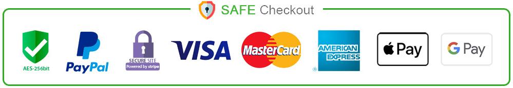 Safe checkout online at TouchTitanium.com