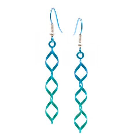 Green loop wire earrings from TouchTitanium.com