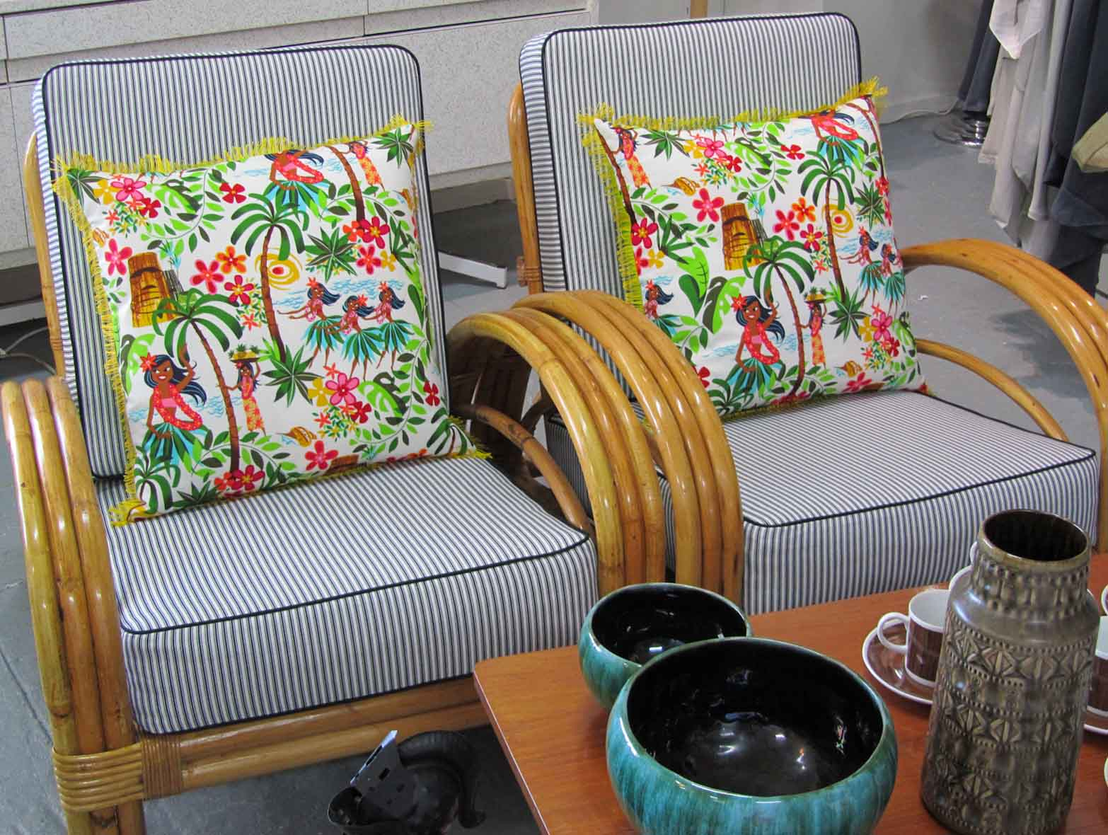 Hawaiian Chair Hawaiian Fabric Touchwooddesign