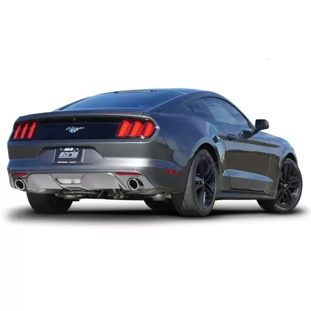 borla s type cat back exhaust 2015 2019 ford mustang ecoboost coupe w o active exhaust