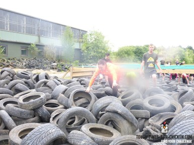 Mud Masters Obstacle Run 2015, Hindernis Getting Tyred