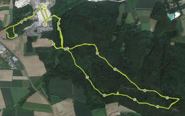 Hammer Run Hirschau 2015, Streckenkarte