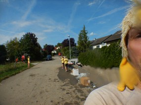 Hindernislauf Baden-Württemberg, Motorman Run 2015, Erste Verpflegungsstation