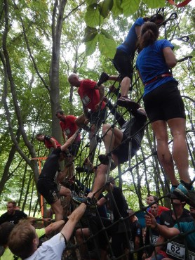 Hindernislauf Hessen, Bad Wolf Dirt Run 2015, Hindernis Spiderman