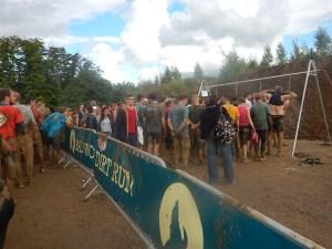 Hindernislauf Hessen, Bad Wolf Dirt Run 2015, Vorabduschen