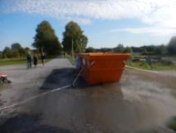 Hindernislauf Nordrhein-Westfalen, XLETIX Challenge Ruhrgebiet 2015, Hindernis Wassercontainer