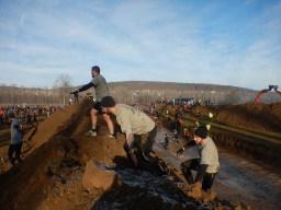 Hindernislauf Thüringen, Getting-Tough - The Race 2015, Rudolstadt, Wassergräben nach dem Start