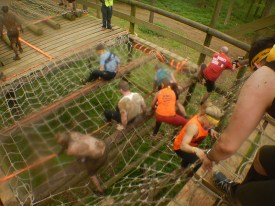 Hindernislauf England, Rat Race Dirty Weekend 2016, Hindernis Ewok Village