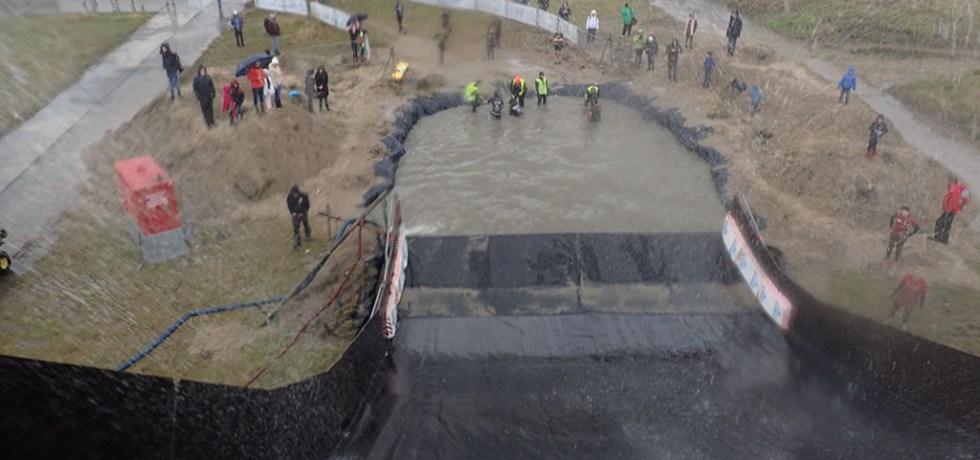 Neptunus Run Hindernislauf Belgien, Hindernis Tobogaaaan Ausblick