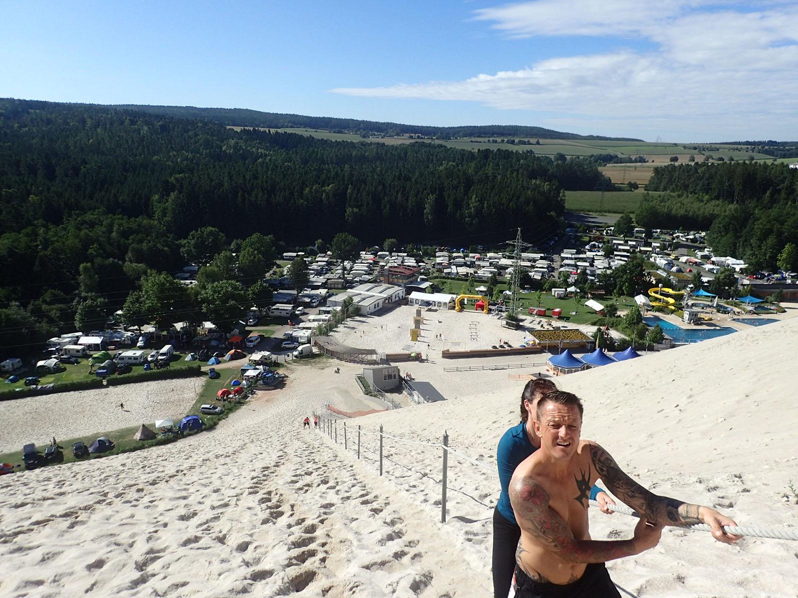 Sandblaster Run, Hindernislauf Deutschland, Blick vom Monte Kaolino