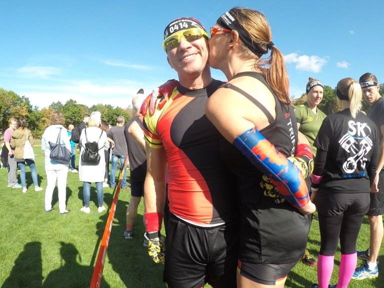 Sandy und Chris vor dem Start bei Great Barrier Run