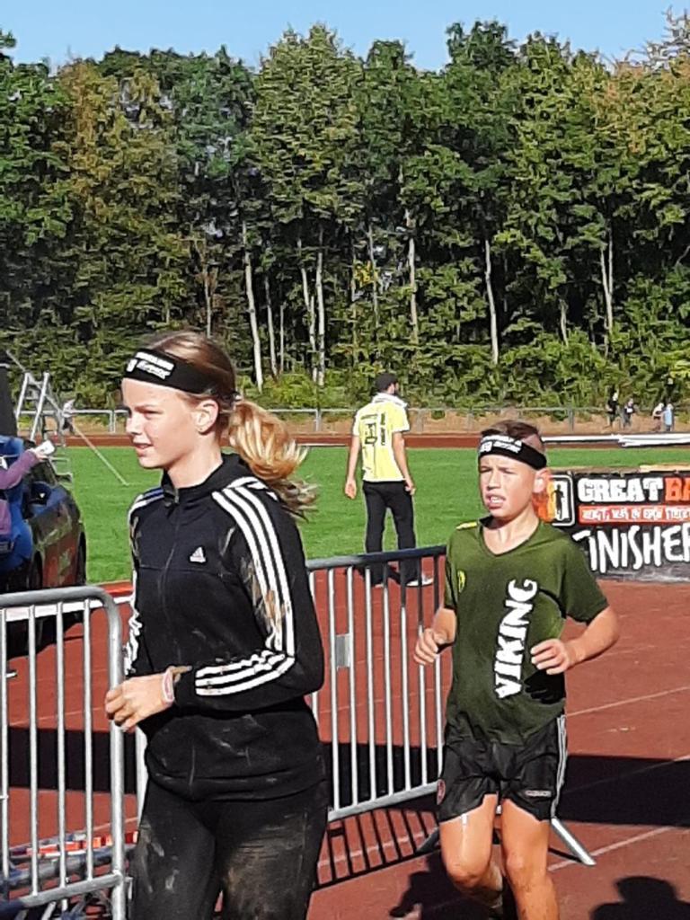Great Barrier Run Kids, Hindernislauf Kinder und Familien, Zieleinlauf Pierre