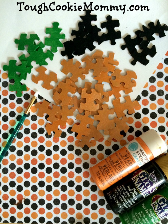 Pumpkin Puzzle Craft  Tough Cookie Mommy