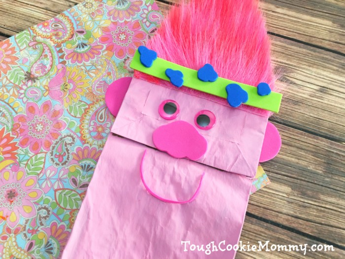 Trolls Puppet Craft Tough Cookie Mommy