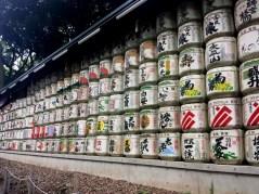 Belle collection de fûts de Sake !