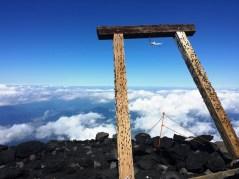 Photo au sommet de fujisan