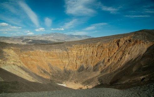 Cratère dans la vallée de la mort