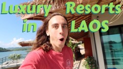 HOW TO TRAVEL LAOS – Ep 3 – Vang Vieng Luxury Resorts travel vlog ft. The NYC Couple