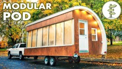 Solar Powered Pod as Prototype for Tiny House, Mobile Office & More!