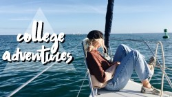 College Weekend VLOG | SURFING AND SAILING