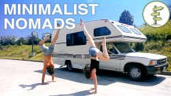 Extreme Minimalist Nomads Living in a Tiny RV