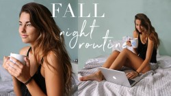 Fall School College Night Routine